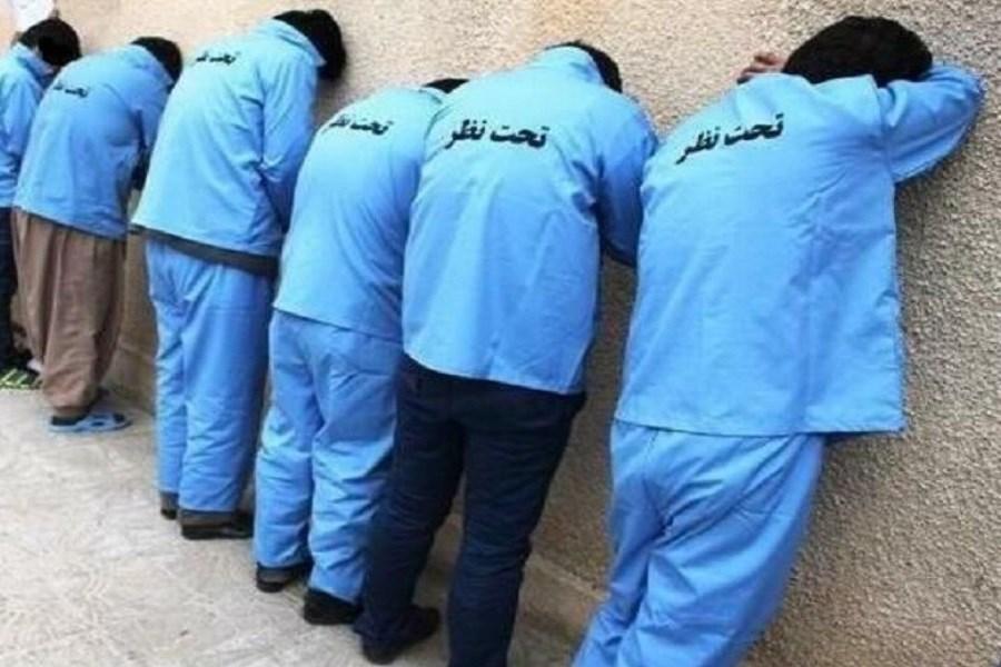 دستگیری باند هفت نفره سارقان مسلح پایتخت
