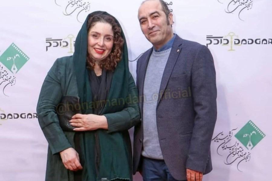 ژاله صامتی در کنار همسر بازیگرش
