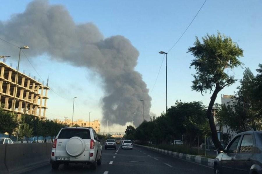 شعلههای آتش در پالایشگاه تهران مجدد شعله ور شد + ویدئو