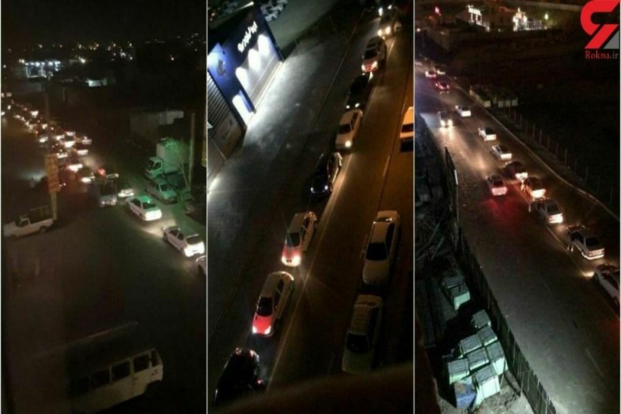 هجوم مردم به پمپ بنزین های تهران + عکس