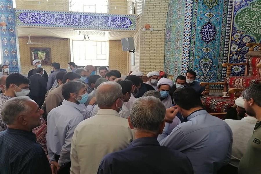 مراسم بزرگداشت قیام ١۵ خرداد و شهادت امام صادق در شهرستان های بافق و  مهریز