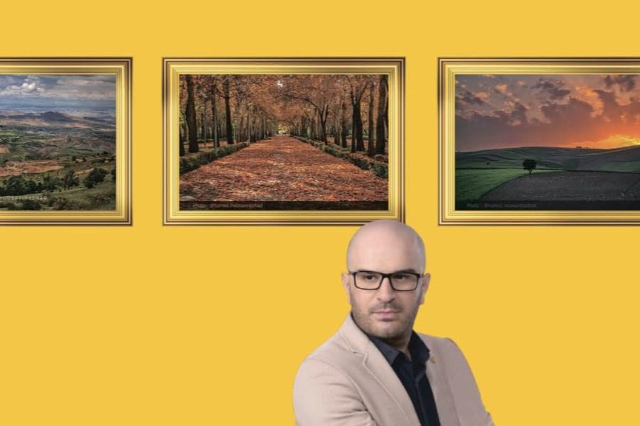 تصویر «حامد موسوی نژاد» با عکس های خراسان شمالی در نمایشگاه بین المللی