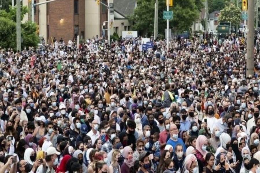 تجمع در کانادا برای اعلام همبستگی با مسلمانان