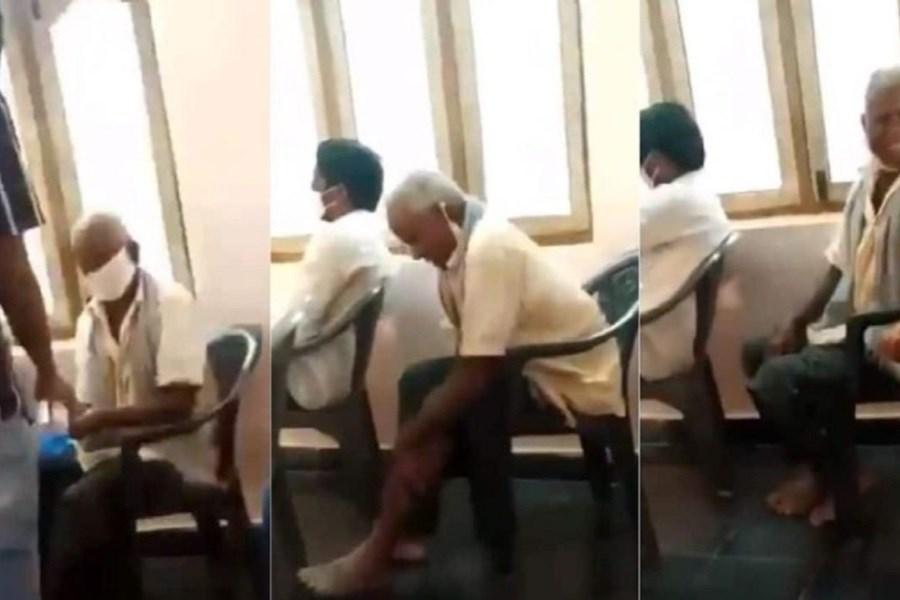 روش عجیب مرد هندی در استفاده از مایع ضدعفونی کننده!+فیلم