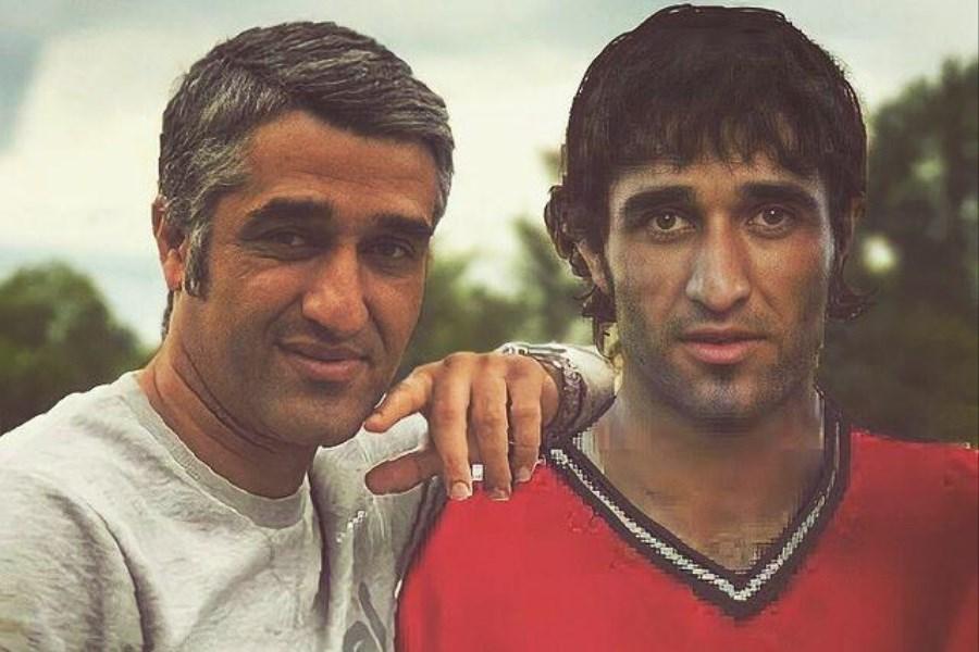 پژمان جمشیدی فوتبالیست و پژمان جمشیدی بازیگر در یک قاب