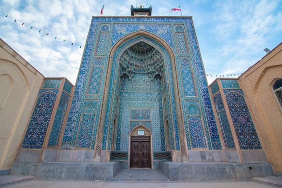 آغاز مرمت کاشیکاری مسجد ملک کرمان