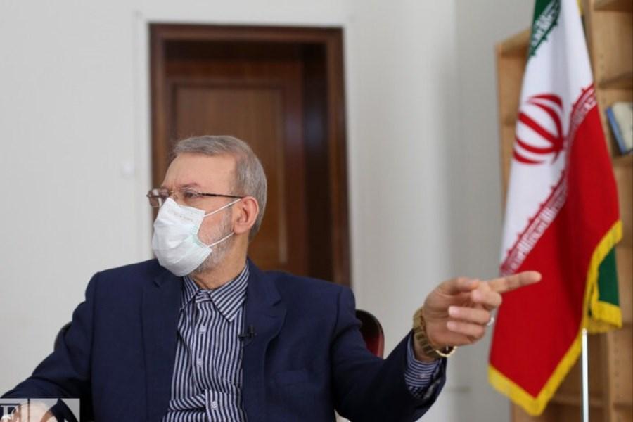 تصویر تکذیب دیدار لاریجانی با برخی نامزد های انتخابات ریاست جمهوری