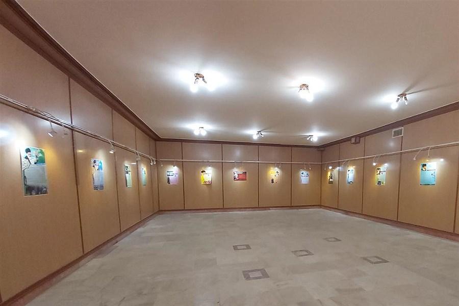 گشایش نمایشگاه پوستر سیمای خورشید در نهاوند
