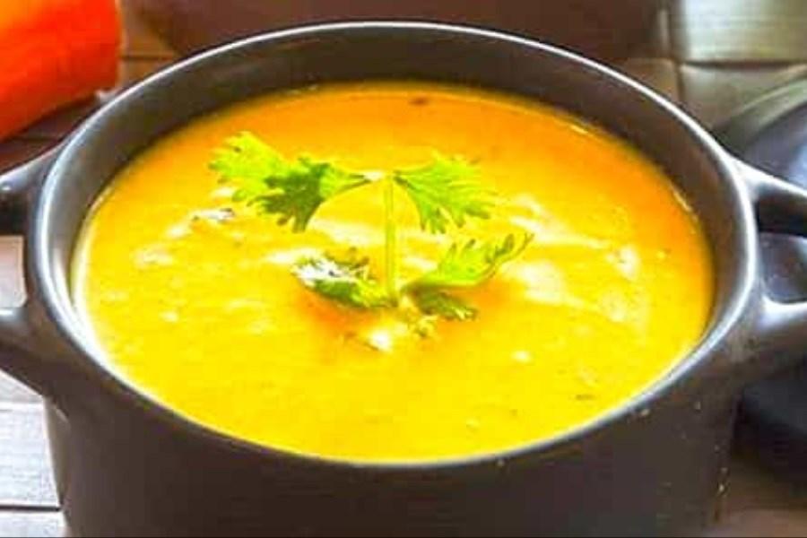 سوپ مرغ و هویچ ترکی
