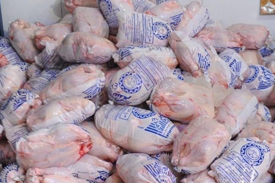 توزیع ۱۱۰۰ تن مرغ منجمد در بازار