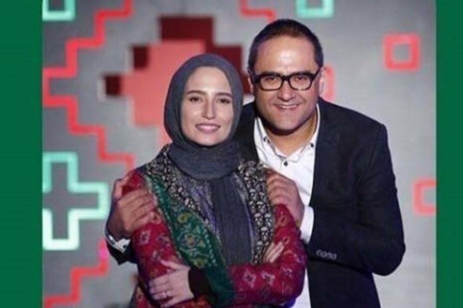 عاشقانه رامبد جوان و همسرش در پشت صحنه سریالش