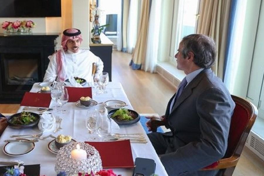 تصویر رایزنی وزیر خارجه عربستان و گروسی درباره برنامه هستهای ایران