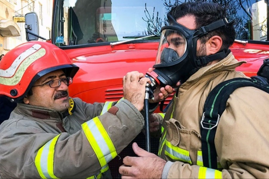آتش سوزی در پاساژ علاءالدین تهران