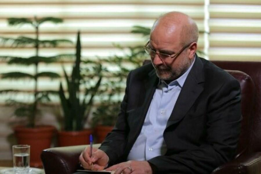 پیام تسلیت قالیباف به همتای خود در عراق در پی حادثه ناگوار آتش سوزی بیمارستان الحسین
