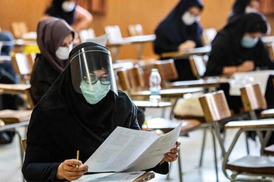 تصویر استفاده ۹۹.۶ درصدی کنکوریها از ماسک