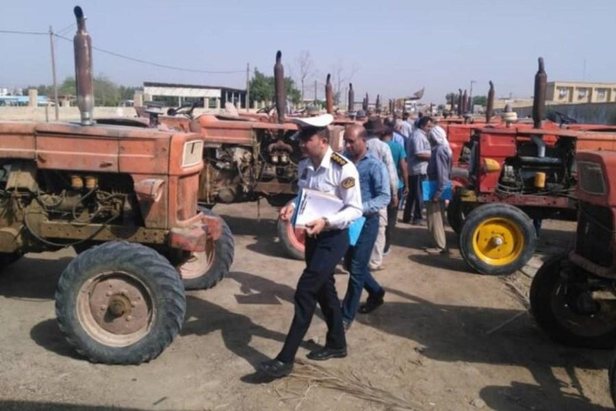 پلاکگذاری بیش از ۲۰۰ دستگاه ماشین آلات کشاورزی در خراسان رضوی