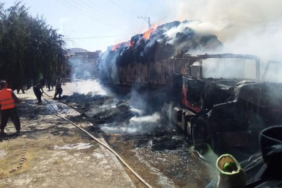 مهار کامل آتشسوزی در شهرک صنعتی شهرکرد