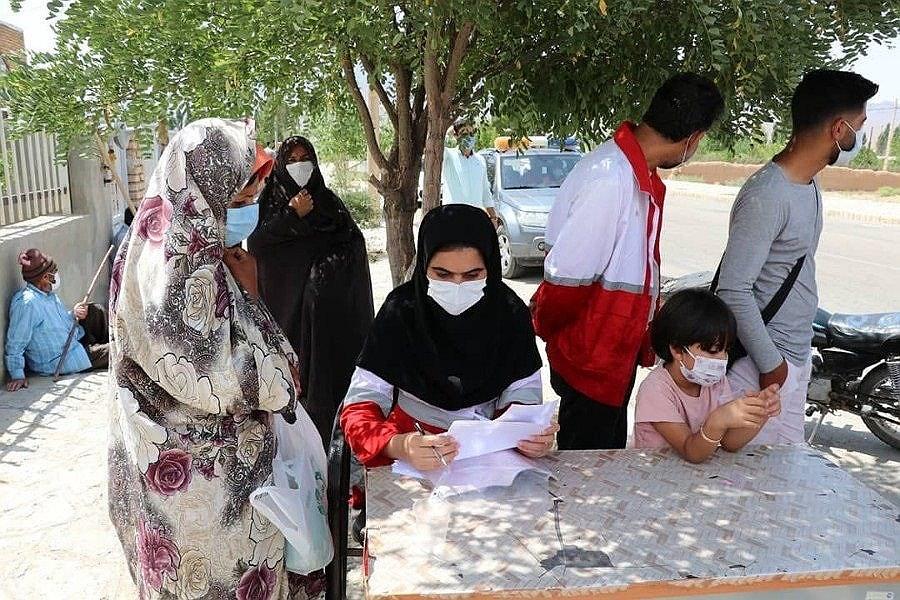 محل استقرار تیم های درمان اضطراری در روستاهای زلزله زده خراسان شمالی