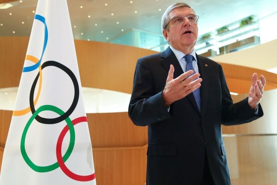 تصویر توماس باخ: IOC هیچ وقت ورزشکاران را رها نمیکند