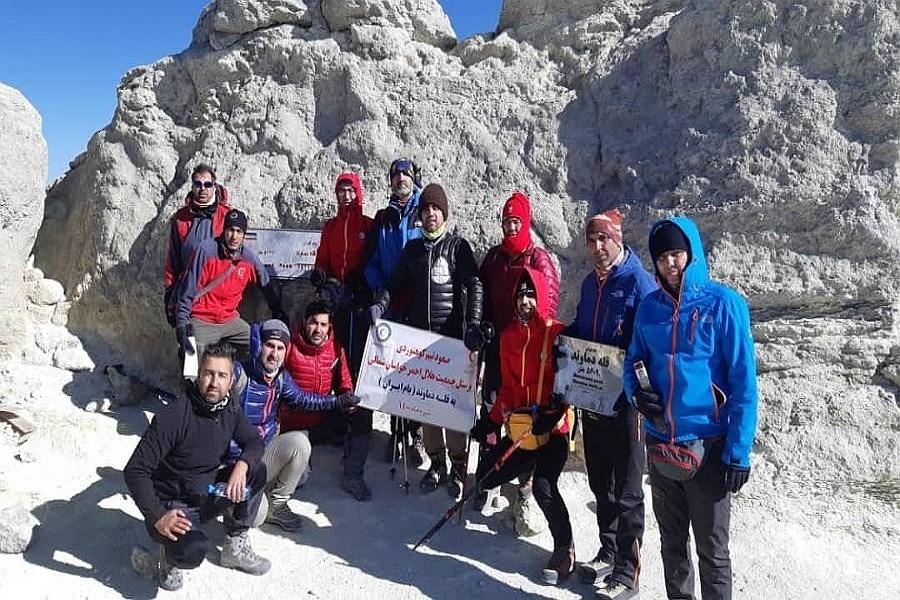صعود پرسنل هلال احمرخراسان شمالی به قله دماوند