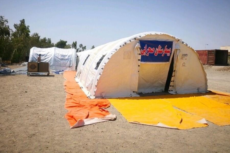 استقرار بیمارستان صحرایی ۷۰ تختخوابی در نهبندان خراسان جنوبی
