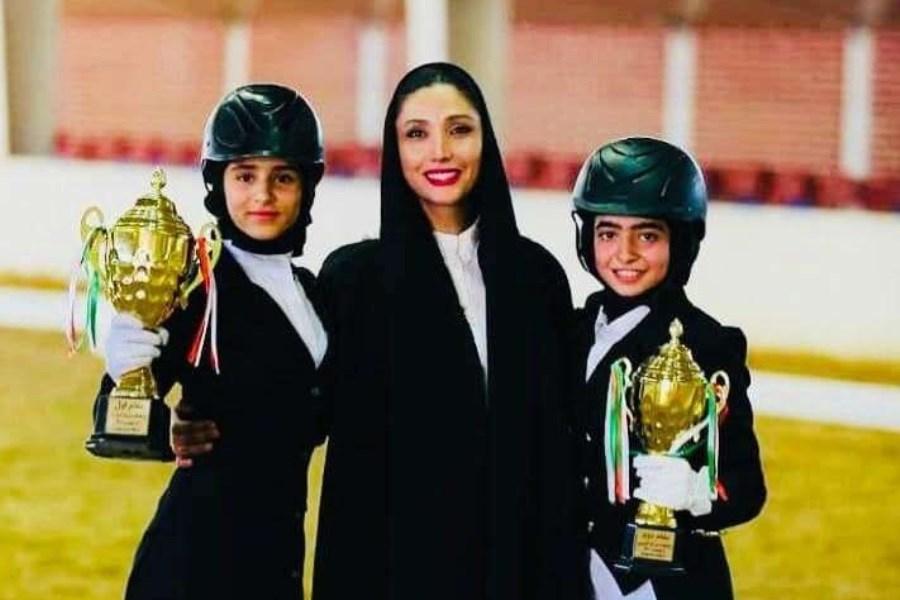 دختران سوارکار نوجوان ایران در مسابقات اوراسیا در مسکو درخشیدند