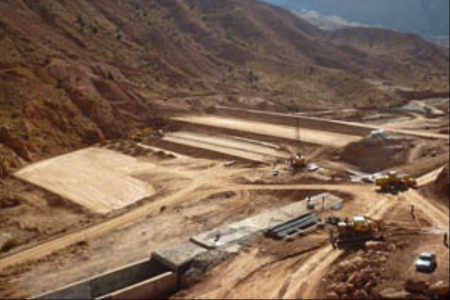 تصویر کاهش حجم آب در سد «مجن» شاهرود +ویدئو