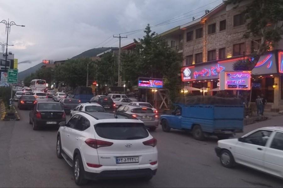 ترافیک سنگین در آزادراه تهران - کرج - قزوین