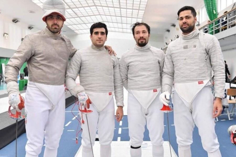 تصویر اولین تمرین سابریستهای ایرانی با 3 کشور دیگر در توکیو