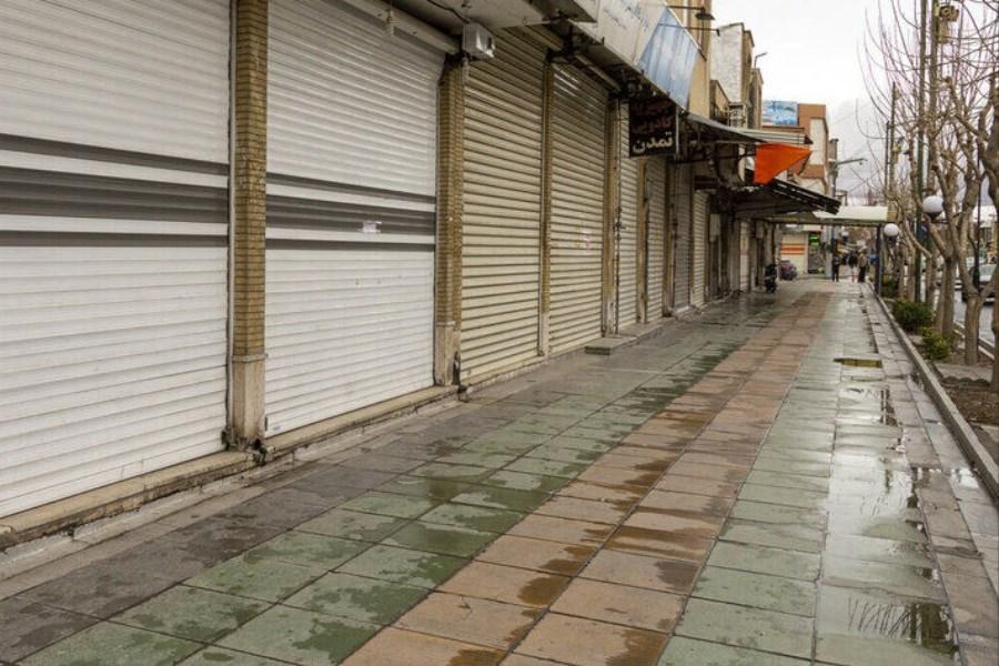 تصویر تعطیلی 10 روزه بازار گنبد کاووس به دلیل کرونا