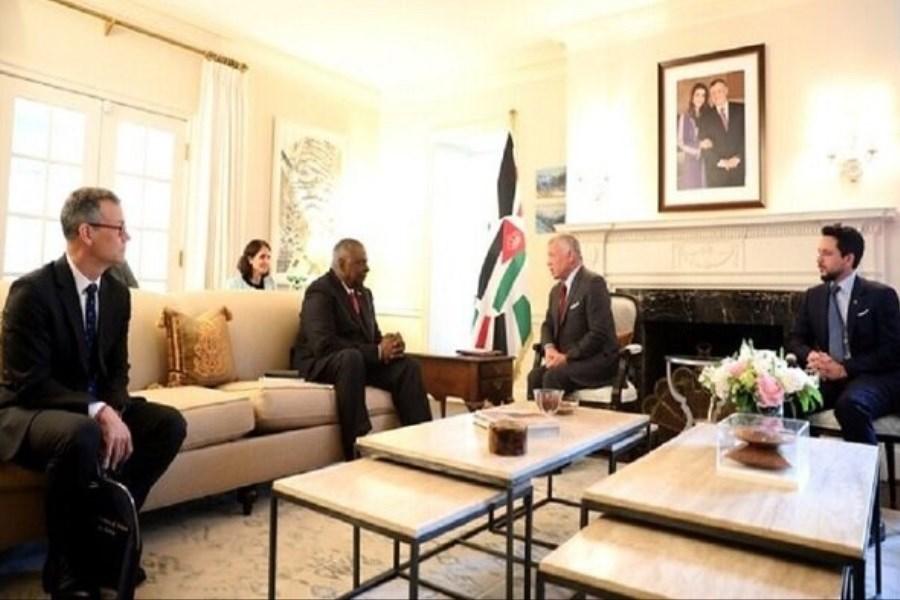 پادشاه اردن با وزیر دفاع آمریکا رایزنی کرد