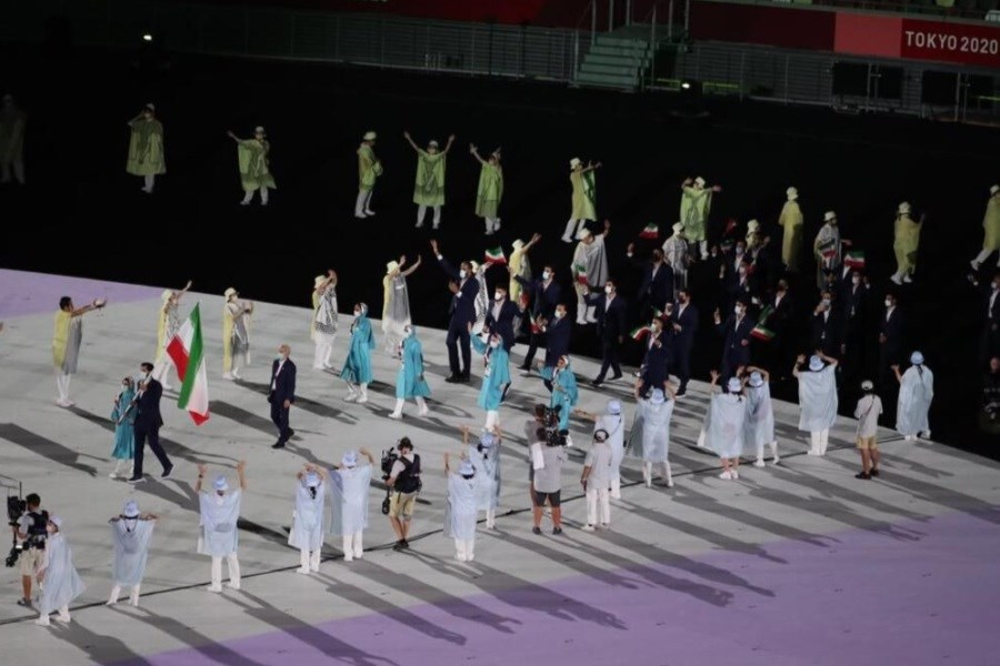 ستارگان ایران زمین در افتتاحیه المپیک توکیو رژه رفتند