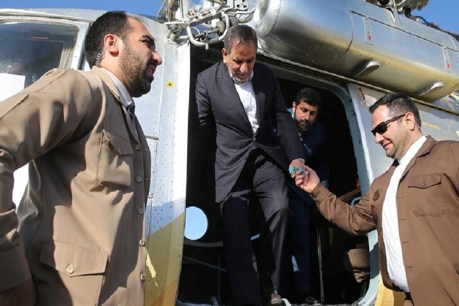 بازدید هوایی جهانگیری از طرح ۵۵۰ هزار هکتاری خوزستان