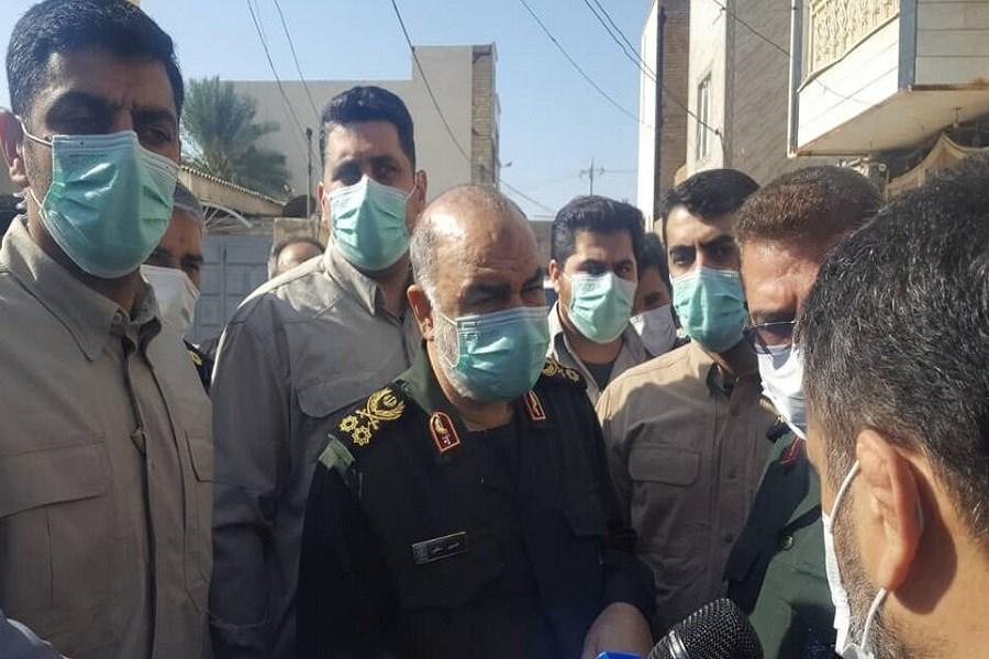 فرمانده کل سپاه برای بررسی تنش های آبی وارد خوزستان شد