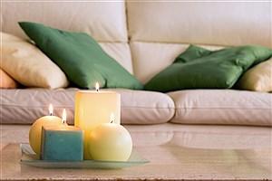تصویر  تزیین خانه با شمع