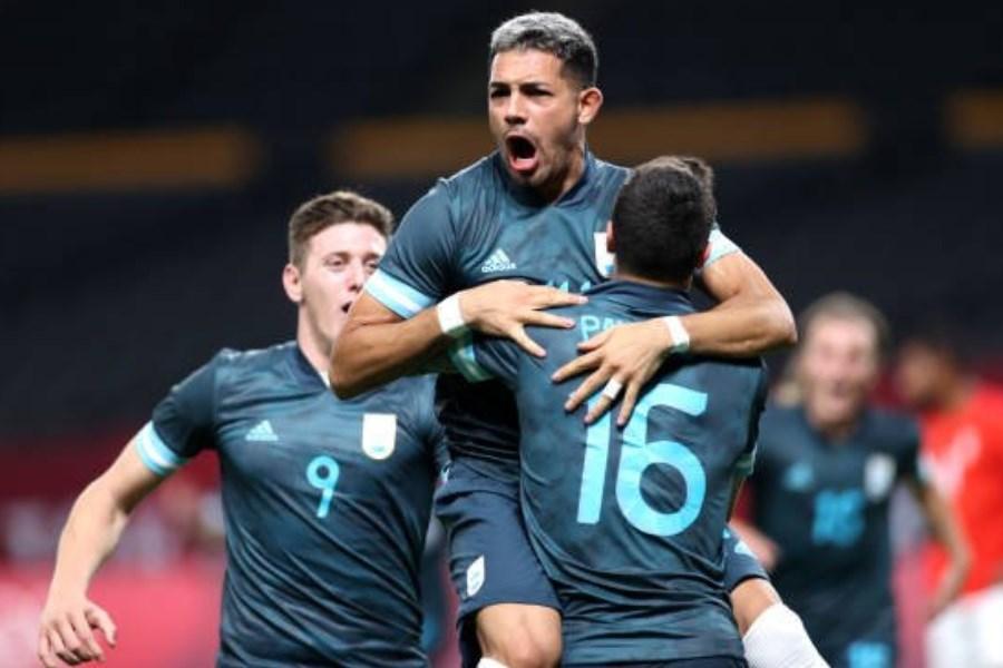 پیروزی تیم فوتبال المپیک آرژانتین مقابل مصر