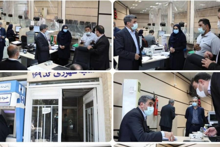 صیدی از شعب کشیک بانک صادرات سرزده بازدید کرد