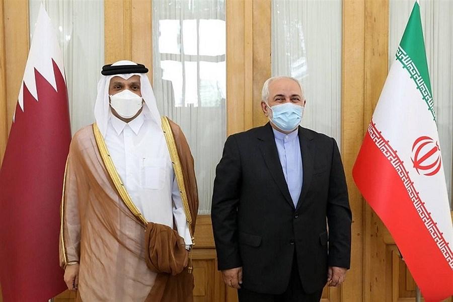دیدار ظریف با وزیر امور خارجه قطر در تهران
