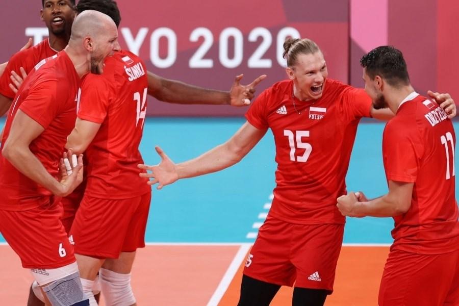 پیروزی تیم والیبال لهستان مقابل ونزوئلا