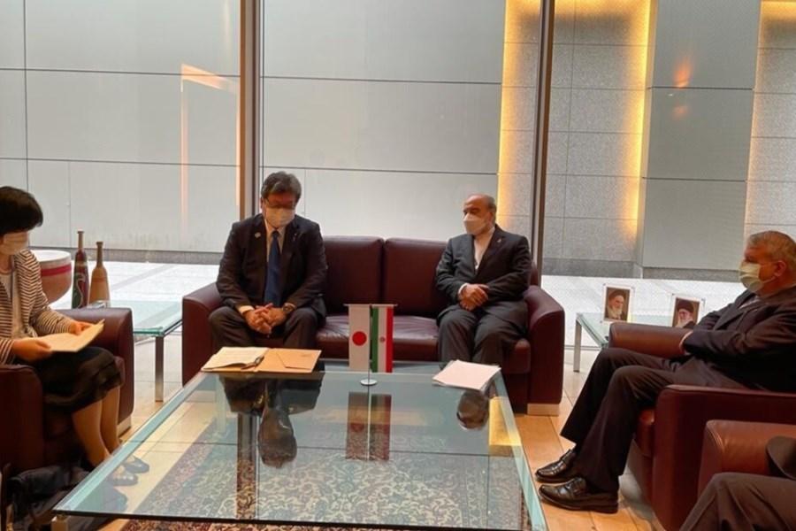دیدار مسعود سلطانی فر با وزیر ورزش ژاپن در توکیو