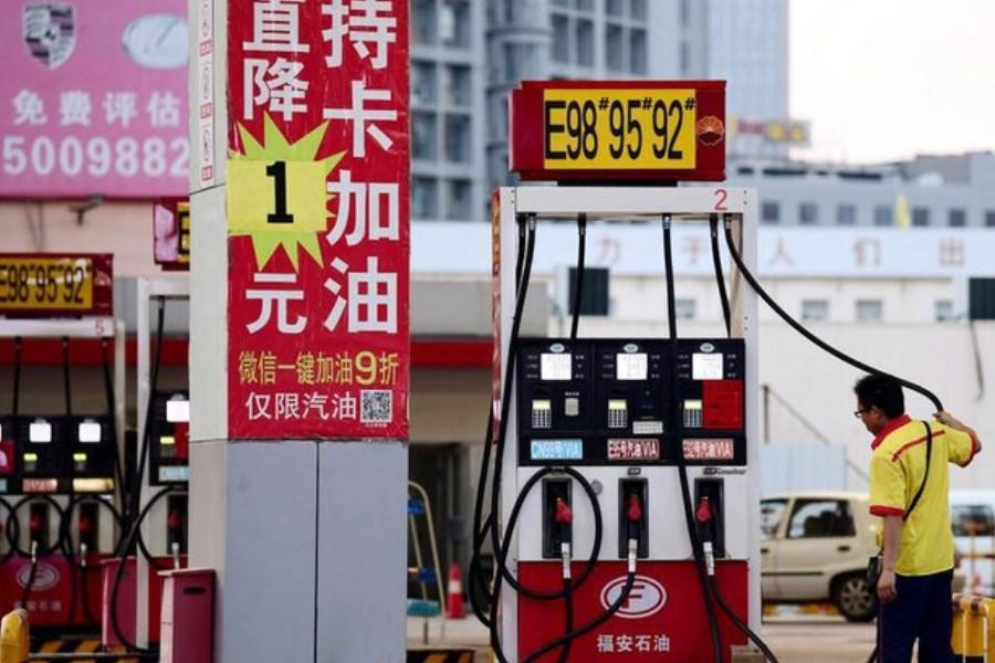 قیمت بنزین در چین از امروز پایین آمد