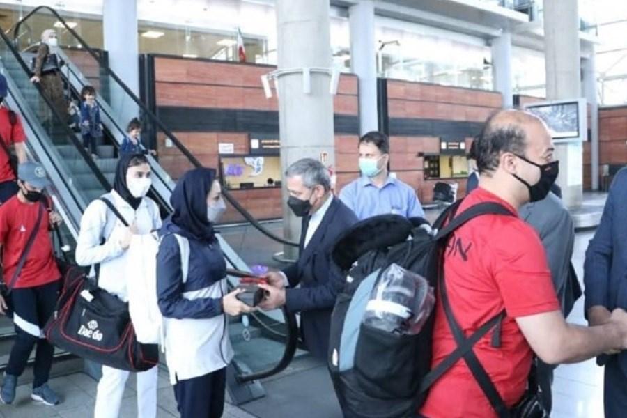 بازگشت گروهی از ملی پوشان کشورمان به ایران