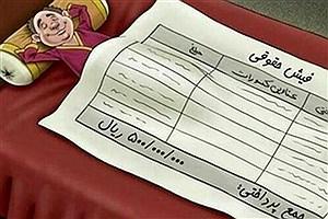 تصویر  حقوق های نجومی بار دیگر جنجال آفرید! +سند