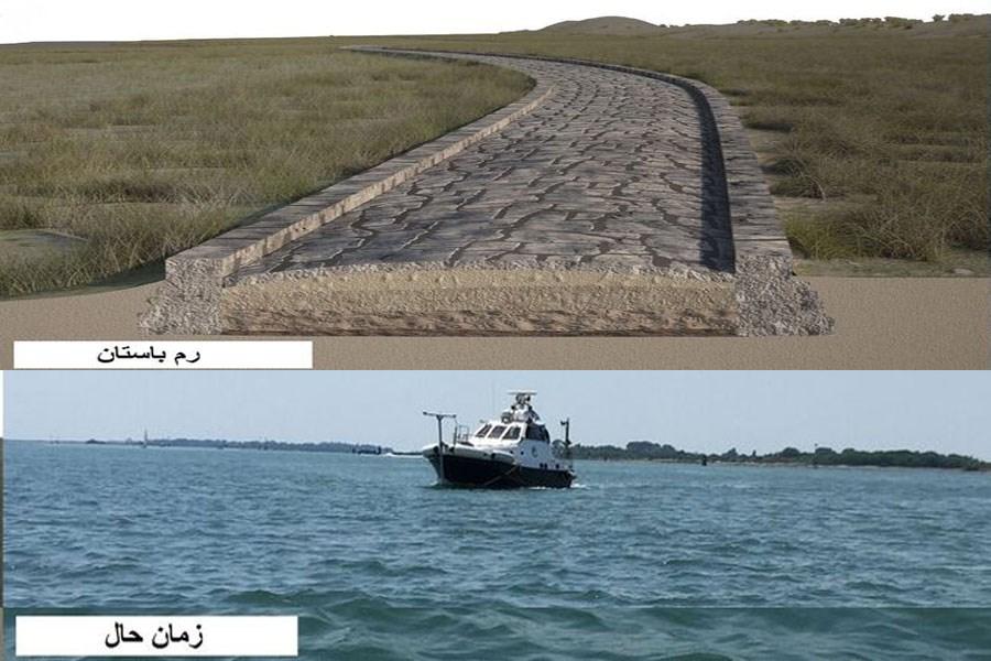 کشف یک جاده باستانی در قعر آبهای ونیز