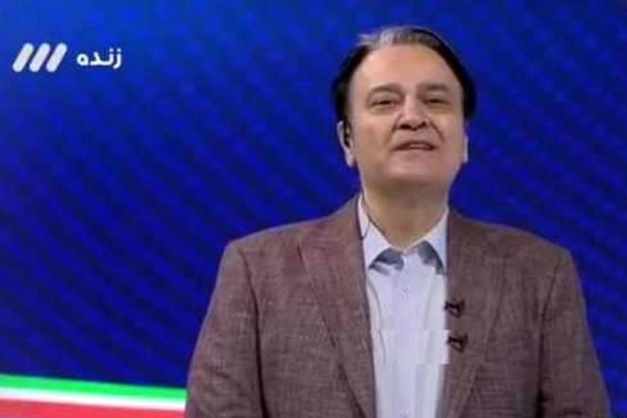 توضیحات مجری جنجالی شبکه 3 در مورد گزارش بازی کیانی و علیزاده