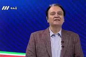 تصویر  توضیحات مجری جنجالی شبکه 3 در مورد گزارش بازی کیانی و علیزاده