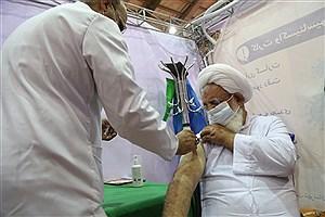 تصویر  امام جمعه یزد دوز دوم واکسن برکت را دریافت کرد