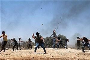 تصویر  زخمی شدن چند فلسطینی در جریان تیراندازی اشغالگران