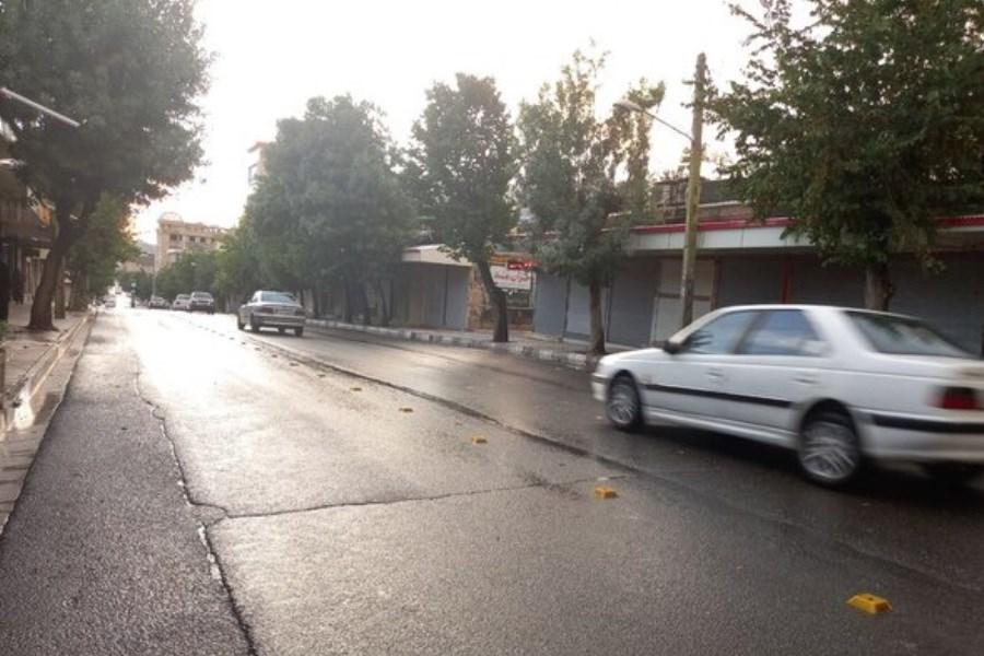 بارش باران در شرق و غرب اصفهان