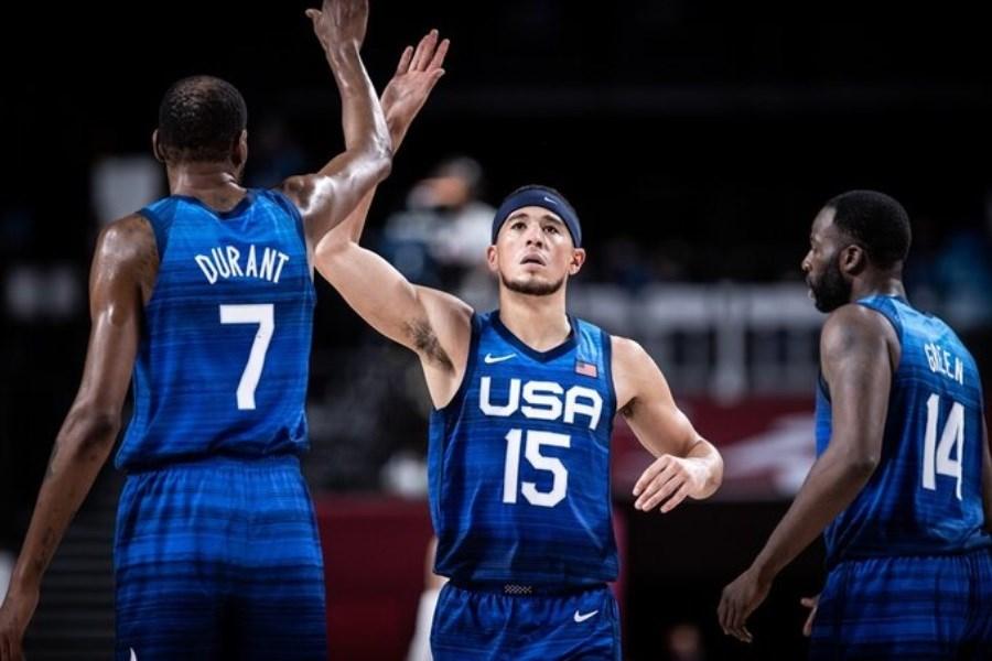 تیم ملی بسکتبال آمریکا به مرحله نیم نهایی المپیک صعود کرد